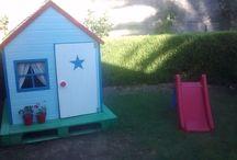 Casita infantil jardín