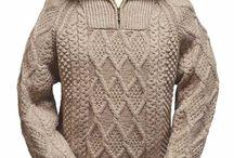 Мужские вязаны свитера