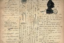 Письма,  ноты, страницы