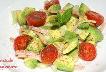 Recetas de ensaladas / Ensaladas coloridas, ricas y muy saludables para toda la familia. Recetas de cocina fácil.