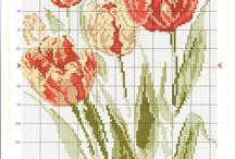 haft tulipany