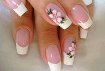 uñas con flores