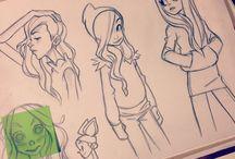 Pig tegninger