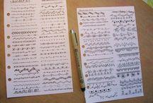 Schriftarten, Doodles, kleines Putziges und Nützliches