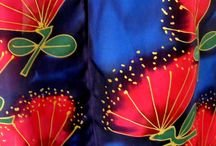 SILK SCARVES / Hand Painted silk Scarves