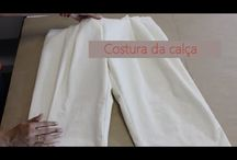 calças e shorts costura