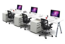 JasonL 3 Person Run Workstations / You spend a great deal of time sitting at a desk and so JasonL has created an ergonomic range of workstations to keep you comfortable.