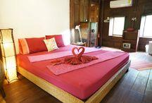 """Tropical Thai Teak House """"Basil"""" / Authentic Thai-style house with terrace..."""