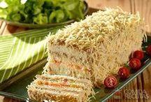 torta fria de atum e pão de forma
