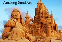 Sand Art | Amazing Sand Art / Sand art is the practice of modelling sand into an artistic form. View sand sculptures art,amazing art,amazing sand art pic,images of sand art,message by sand art and more.