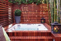 Deck/ Hot Tub Ideas / by Lovie M.