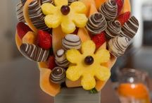 Party Ideas - Fruit Arrangements / Blossoms Fruit Arrangements make great gifts for any occasion but they also make great decorations that  you can really sink your teeth into. dinner party ideas Superbowl party ideas Christmas party ideas birthday party ideas graduation party ideas and more