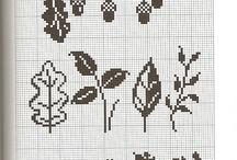 Растение вышивка