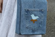B  A Denim Recycled Jeans Bags / by Lorraine Childress