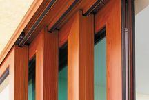 Ventanas de aluminio color madera