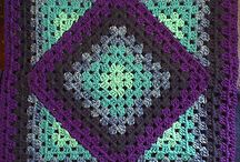 Square diamond granny blanket
