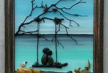 tablou cu pietre