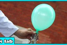 proefjes zweven van ballon zonder helium