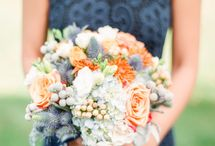 Rustic Spring or Fall Wedding / Blue / Orange / by Tammy Priest Turpin