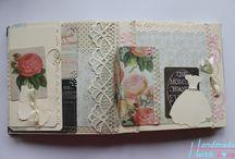Vintage esküvői fényképalbumok, ajándéktárgyak , Wedding Scrapbook / Saját készítésű esküvői albumjaim. :)