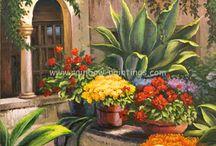Pinturas Al Oleo Flores