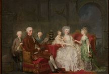 18th century: Portraits of families