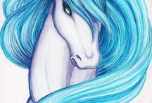 dessins de chevaux