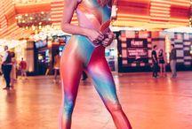 get the look - rainbow catsuit