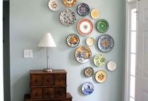 decorar paredes con platos