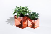 Origami Planters / The Origami Planter was inspired by the processes and materials in which it is made. We used origami as the method in which to explore and create the form. Planters are equipped with drainage. Made in the USA by skilled craftspeople