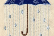 UMBERALLA-RAIN*CROSS STITCH-EMBROIDERY