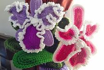 Crochet flowers and plants