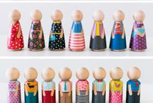 peg dolls ... mini dolls