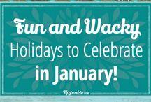 Fun and Wacky Holidays