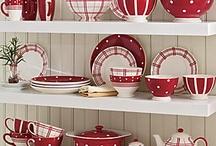 ♥ Red & White Kitchen Ideas ♥