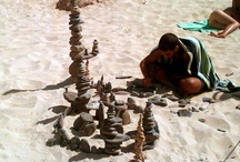 Beach Activities - Stone Art / Creative ideas to occupy the family on holiday