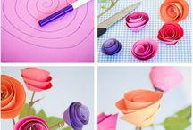 Kreasi / cara membuat bunga kertas