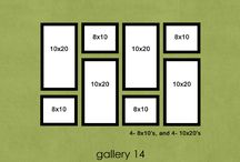 Decorating | Wall Inspiration | Gallery Wall Layouts