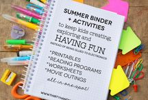Summer Activities for Kids / DIY Summer Camp activities for keeping your kids (and their friends) active and happy this summer!