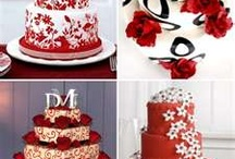 CAKE - WEDDING - REDS,ORANGES, BURGUNDY & MARSALA / by ✿♍✿•🍁 ☜- DMHL -☞ 🍁•✿♍✿
