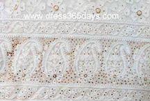 Lucknow Chikankari Net Fabric Suit Lengths / Net anarkali suits, Net Salwaar Suits, Net Unstitched Fabric, Net Suit Fabric, Net Anarkali Dress