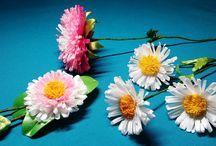 Цветок из лент