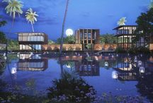 Waikiki Waterscape Villas - India / Strenghtening the existing ecosystem the design for a Sustainable Eco Resort in Vengurla recreates a waterscape with interconnected ponds and waterbodies around which holiday homes are clustered as stilted pavilions. The prefabricated steel construction touches the ground minimally allowing water and landscape to flow uninterrupted.