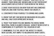 living an artist/creative life