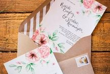 Beautifully crafted wedding invites