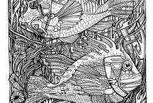 Декоративная композиция море