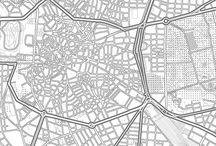 Mapas de diseño nórdico / Mapas en blanco y negro con diseño nórdico, con estilo simple y claro. Láminas que se pueden personalizar