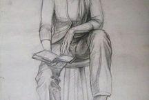 Karakalem Desen Çalışmaları