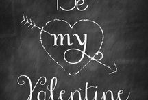 Happy Valentine day lettering