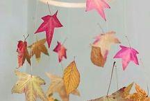 Листья, природные материалы